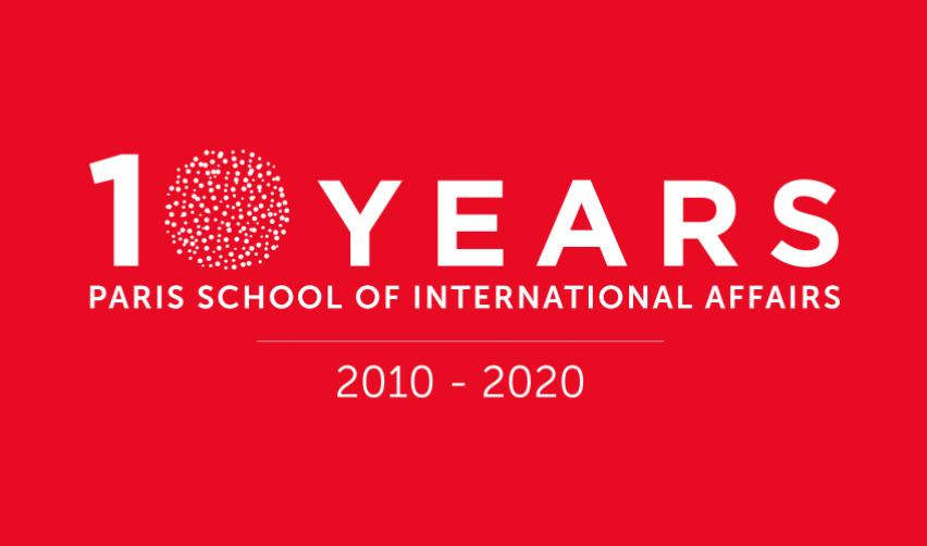 Illustration for the 10 year anniversary of PSIA © Sciences Po