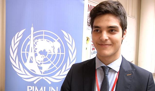 Farshid Farouk, student participant in PIMUN 2017