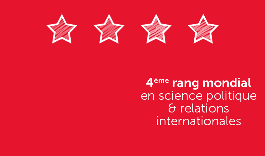 4e rang en science politique et relations internationales (QS ranking)