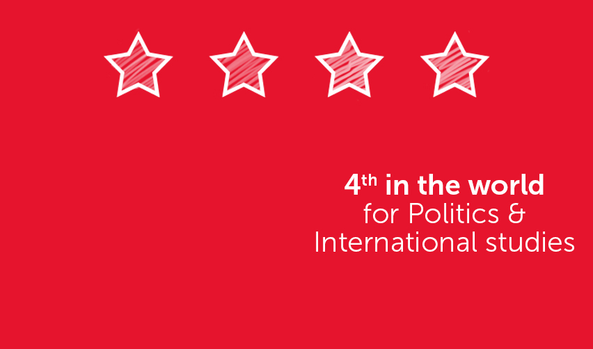4th in the World for Politics & International Studies (QS rankings)