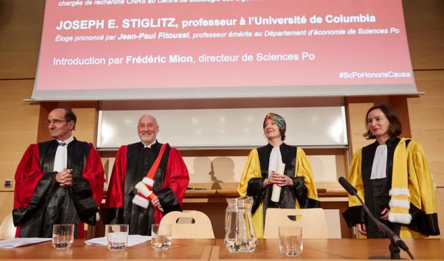 Stiglitz and Zelizer, Doctors Honoris Causa