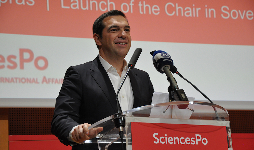 Former Prime Minister of Greece Alexis Tsipras at Sciences Po