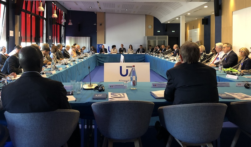 U7 Alliance Summit at Sciences Po in July 2019