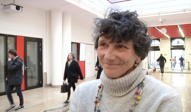 Isabelle Autissier sur le campus de Sciences Po à Paris le 22 janvier 2020
