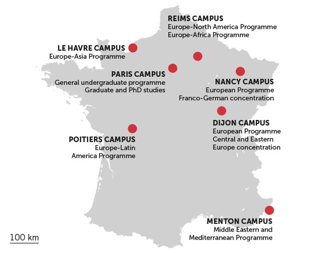 7 multicultural campuses in France