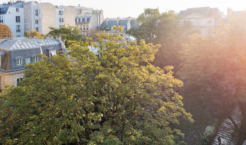 Le jardin du site parisien de Sciences Po