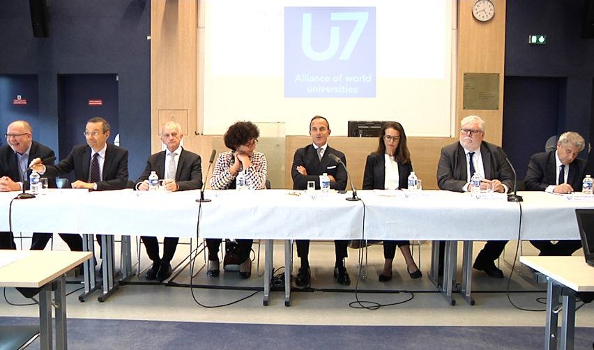 Conférence de presse de l'Alliance U7 - juin 2019 - Sciences Po