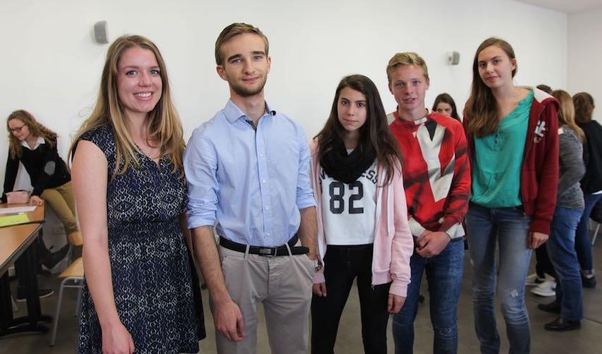Atelier cordées de la réussite sur le campus de Sciences Po à Reims, oct. 2015