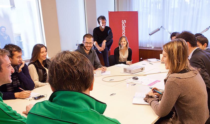 Une réunion de l'incubateur de Sciences Po