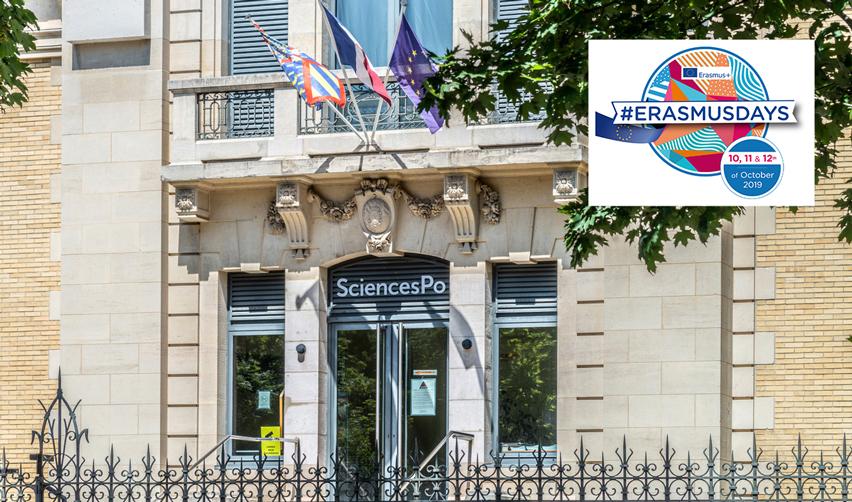 Vue de l'entrée du campus de Dijon