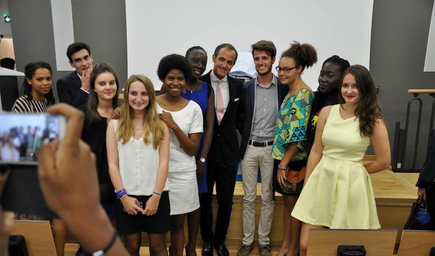 Les étudiants du programme Europe-Afrique lors de la rentrée 2015