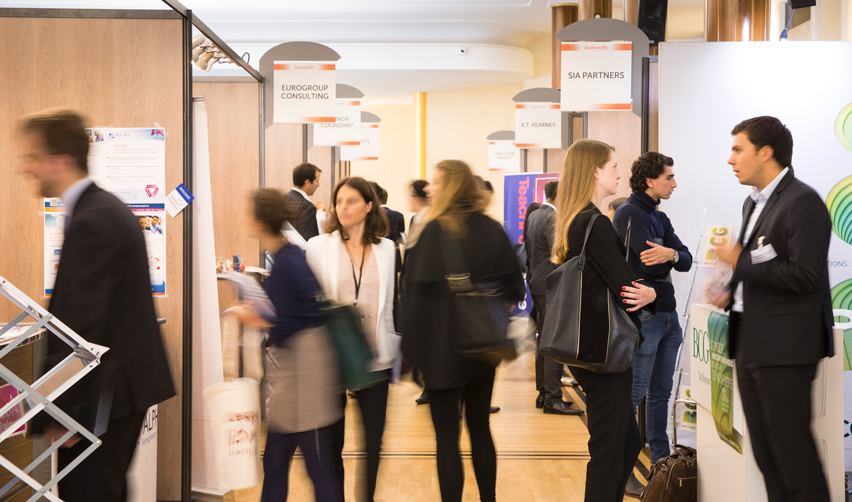 Vue du forum des entreprises à Sciences Po