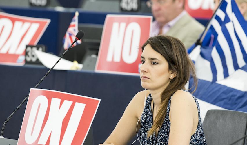 Parlement Européen, séance du 8 juillet 2015 en présence d'Alexis Tsipras