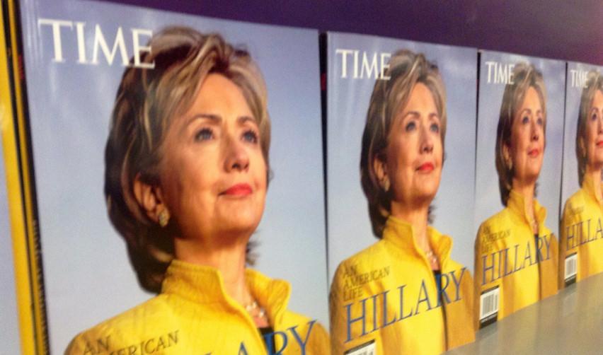 Hillary Clinton en couverture de Time Magazine, août 2014