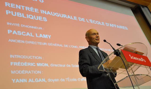 Pascal Lamy le 31 août 2015 lors de la conférence inaugurale