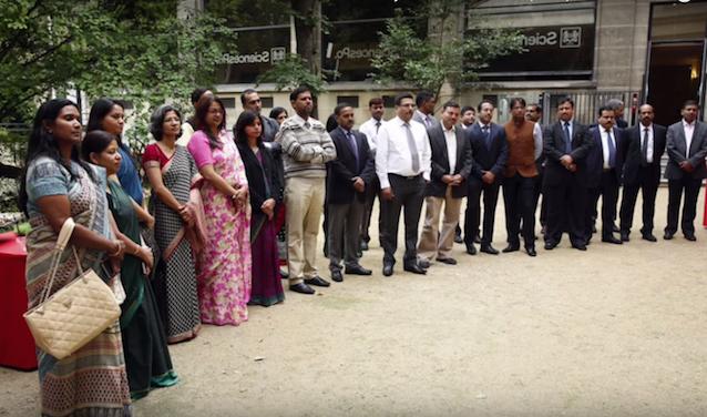 Hauts fonctionnaires indiens se formant à Sciences Po en 2014