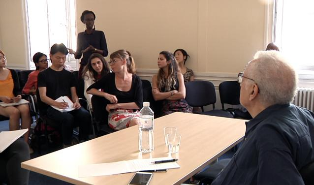 Sciences Po students and Professor Lakhdar Brahimi