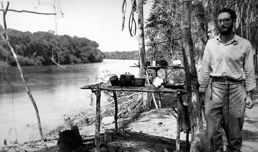 Claude Lévi-Strauss en 1938 en Amazonie