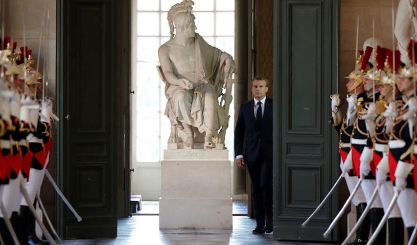 Emmanuel Macron à Versailles, le 9 juillet 2018
