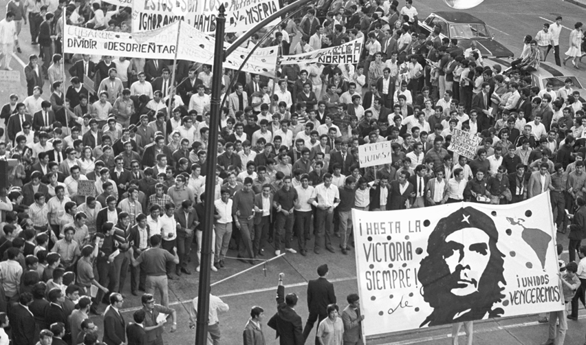 Manifestation à Mexico en 1968