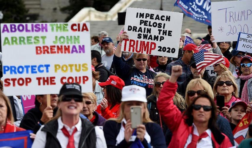 Manifestation de partisans de Trump. Washington, 17 octobre 2019.