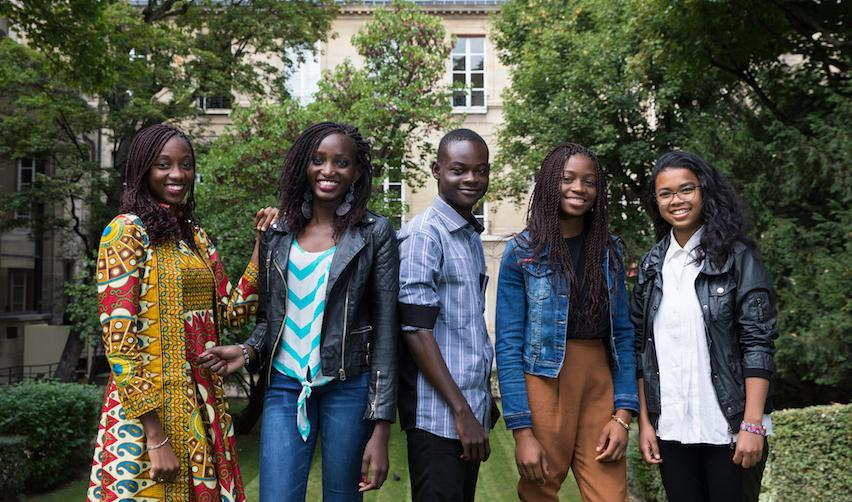 MasterCard Foundation Scholars on the Sciences Po campus in Paris
