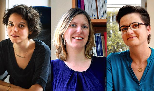 De g. à dr. : Anne Cornilleau, Anne-Sophie Cousteaux, Geneviève Michaud