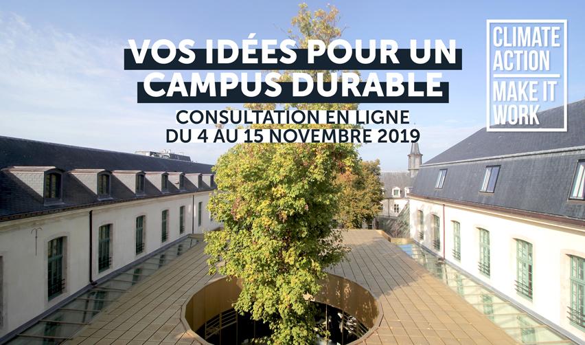 Vos idées pour un campus durable