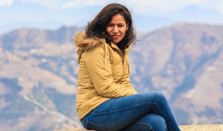 Neha Nair at the hill station of Mussoorie in northern India
