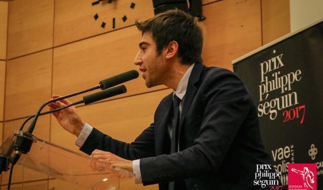 Nicolas Sironneau, lauréat du concours d'éloquence 2017