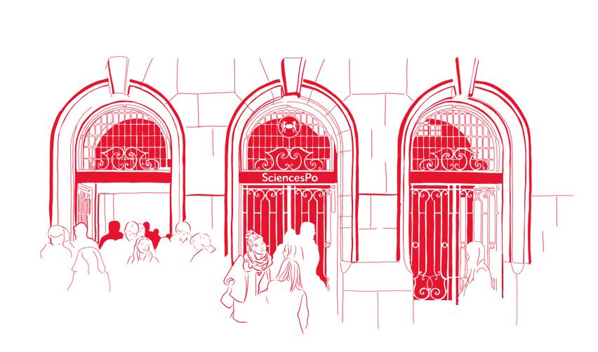 the doors of Sciences Po