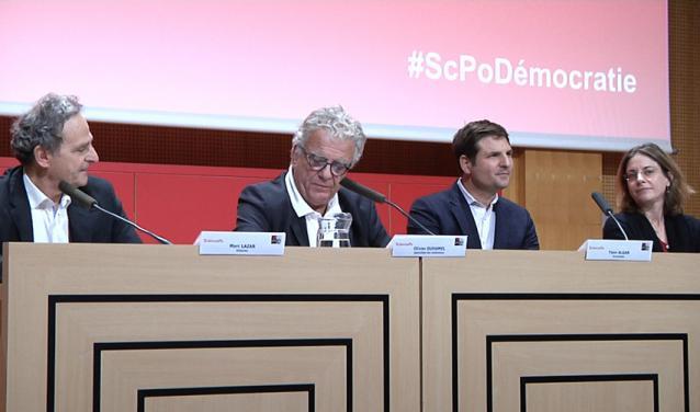 De gauche à droite : M. Lazar, O. Duhamel, Y. Algan, E. Massicard