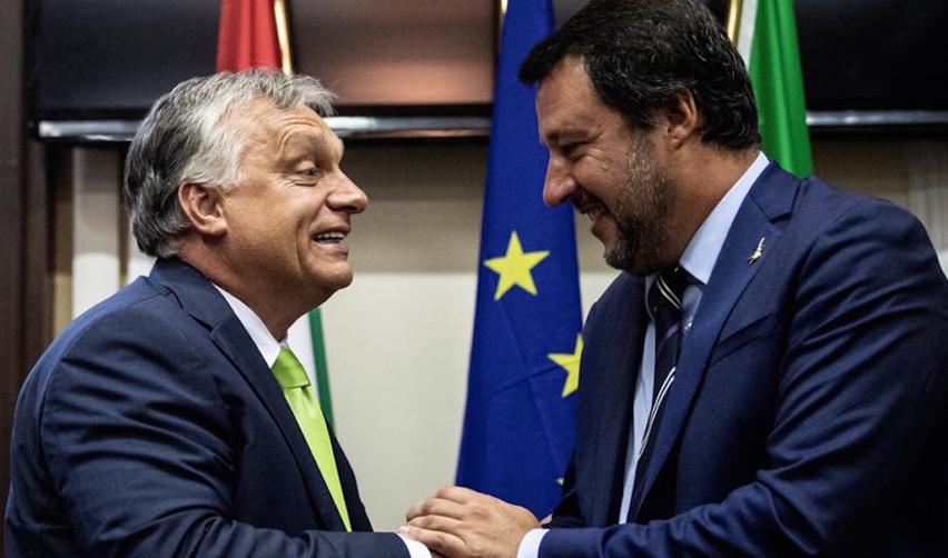 Viktor Orban et Matteo Salvini, à Milan, en août 2018.