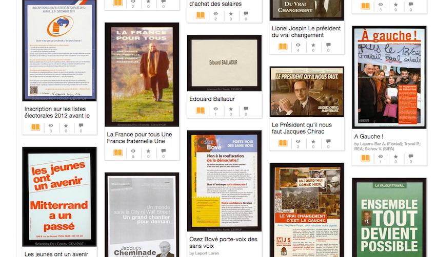 Capture d'écran des archives électorales présidentielles de Sciences Po