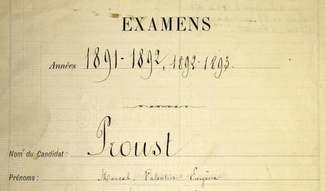 Dossier scolaire de Marcel Proust, années 1891 à 1893