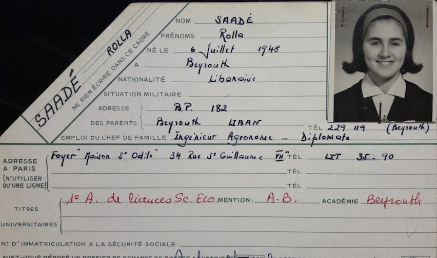 Rolla Saadé's student record