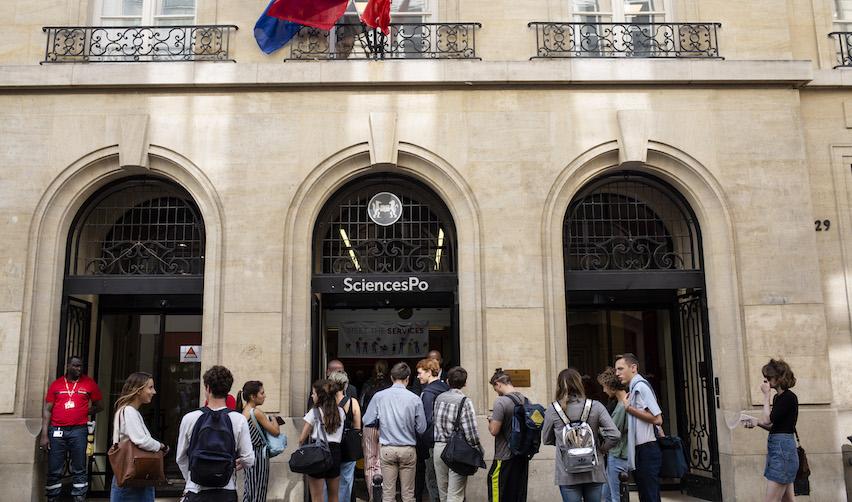 L'entrée du campus de Sciences Po à Paris