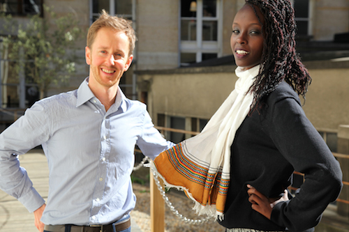 Patrick Blake and Sheila Mutimbo at Sciences Po