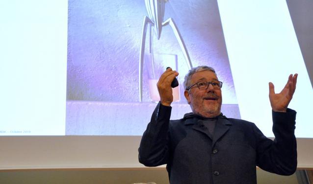 Philippe Starck à Sciences Po, 2019.