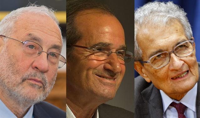 Joseph Stiglitz, Jean-Paul Fitoussi and Amartya Sen were awarded a Progress Medal