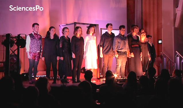 La troupe de comédie musicale des étudiants de Sciences Po