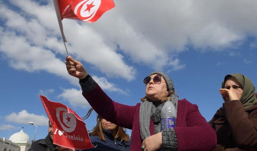 Manifestation à Tunis en février 2019
