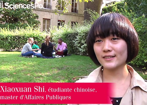 A Chinese student at Sciences Po