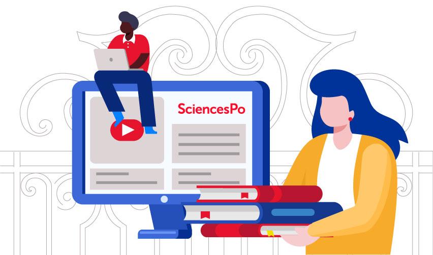 Illustration of Sciences Po's new hybrid education © Sciences Po