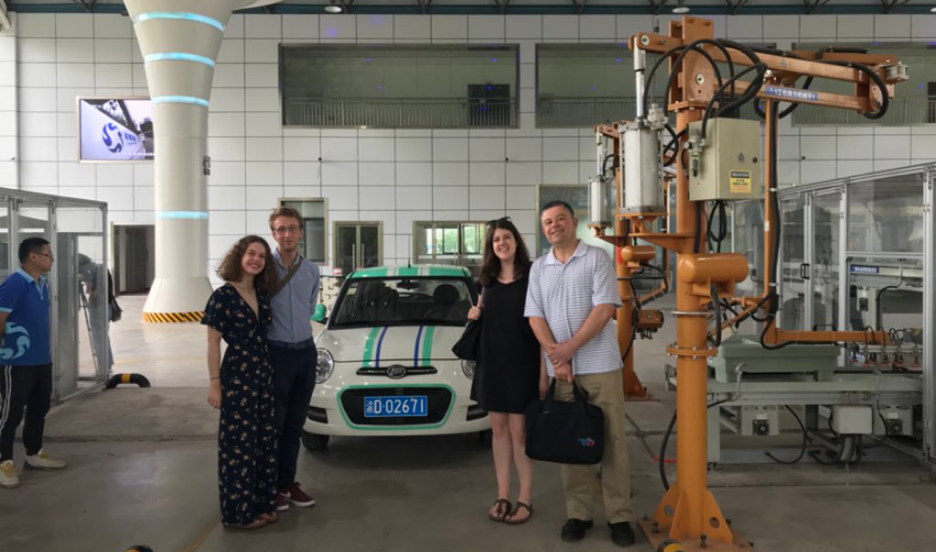 Students at the Lifan Electric Vehicle plant in Chongqing
